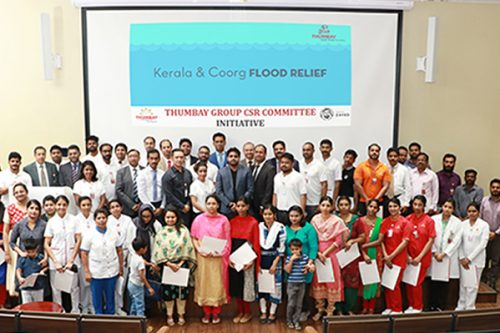 Thumbay Group's CSR Committee Extends Financial Assistance to Flood-Hit Families of Employees
